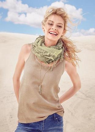Песочная мягенькая блуза-топ майка