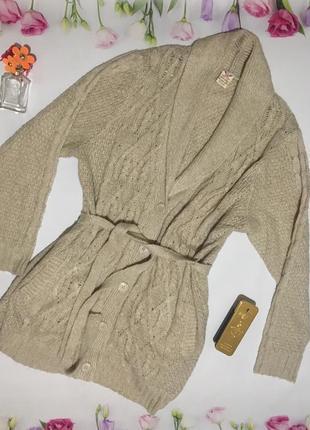 Кофта на пуговицах кардиган свитер большого размера