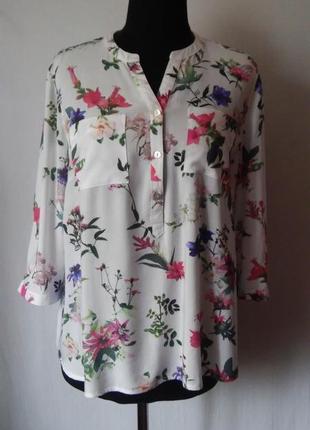 Блуза, рубашка цветочный принт вискоза