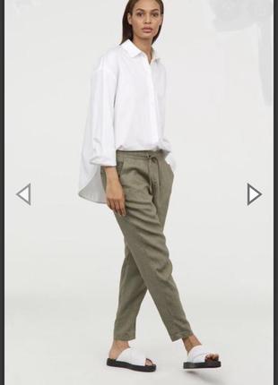 100% лён идеальные льняные штаны от hm