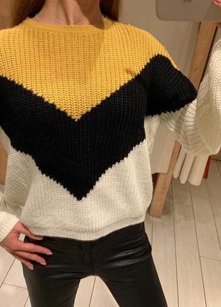 Тёплый вязаный свитер house есть размеры