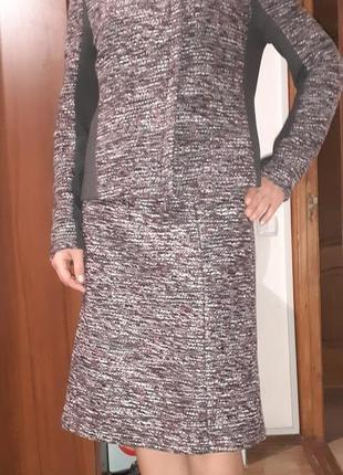 Шерстяной твидовый костюм