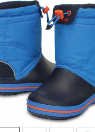 Зимние сапоги детские crocs kids' crocband™ lodgepoint graphic winter boot