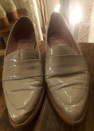 Wonders натуральные кожаные лаковые лоферы балетки туфли броги оксфорды