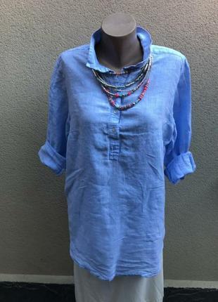 Льняная рубашка h&m, можно для беременных, 100% лён