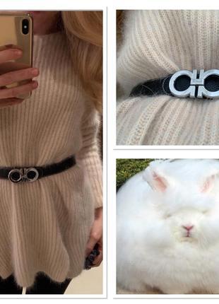Пушистое чудо тёплый свитер/ кофта/ джемпер оверсайз из натуральной ангоры !