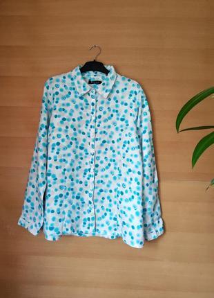 Льняная рубашка / блуза рукав с отворотом  miha