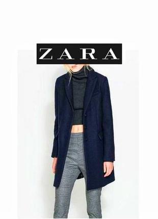 🔥скидка 🔥24 часа 🔥zara coat шерстяное пальто прямого кроя классическое длинное осень-зима