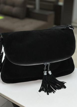 Функциональная сумочка,фасад натуральный замш!!