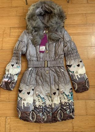 Новая зимняя куртка snow beauty натуральный мех