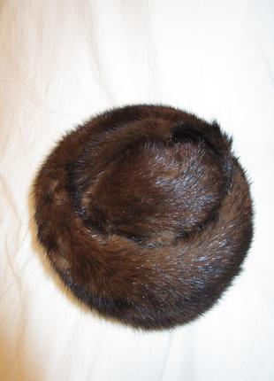 Шапка норковая женская зимняя