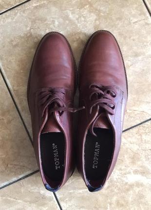 Новые стильные кожаные мужские туфли topman 44 размер
