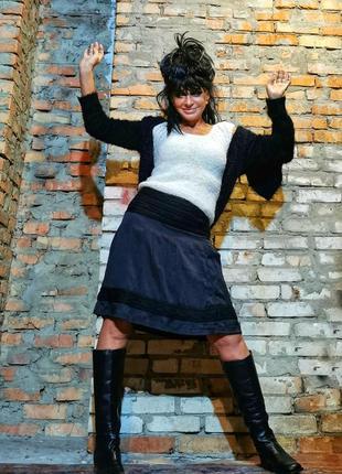 Promod юбка вязаная с оборками миди