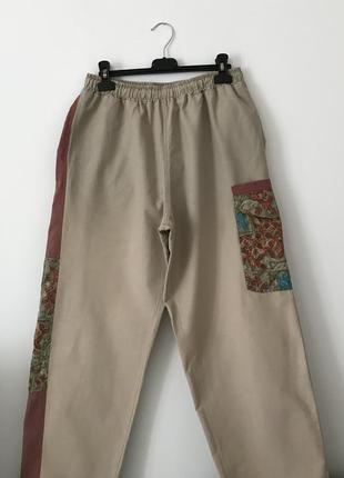 Винтажные штаны на шнурках с карманами карго eider