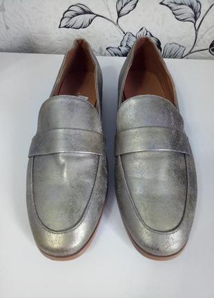 Туфли с эффектом потертой кожи