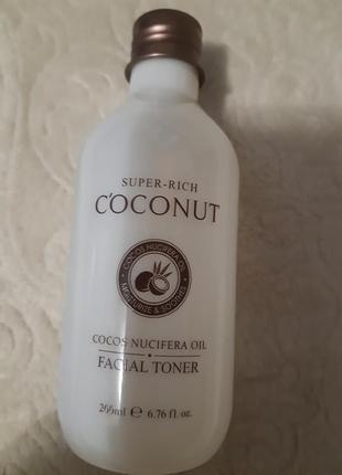 Корейский кокосовый  тонер для лица esfolio super rich coconut