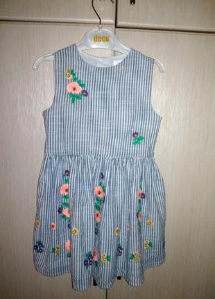 Красивое натуральное платье next 3 г