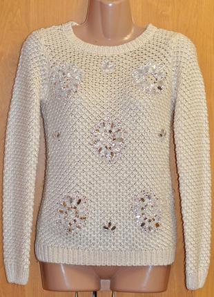 Очень красивый свитер со стразами f&f
