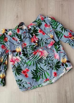 Цветочная блуза mango размер s