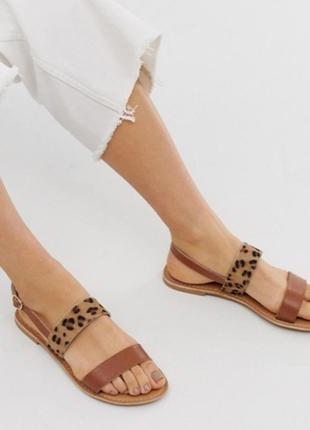 Качественные, красивые босоножки, сандалии с леопардовым принтом от park lane