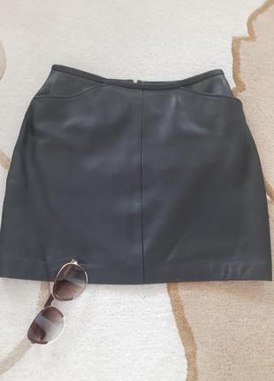 Натуральная кожаная юбка bay