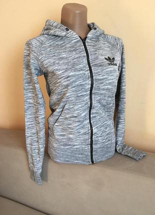 Сіра кофта олімпійка зип худи adidas