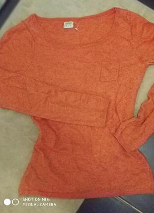 Шерстяной яркий свитер, мохер