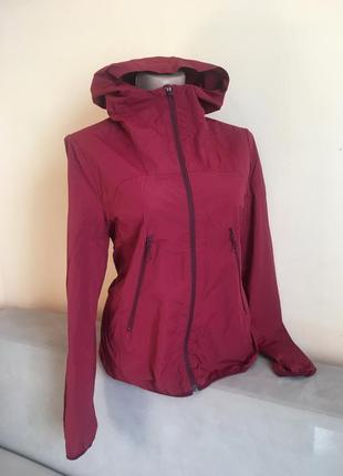 Тонка куртка вітровка дощовик марсала lacoste