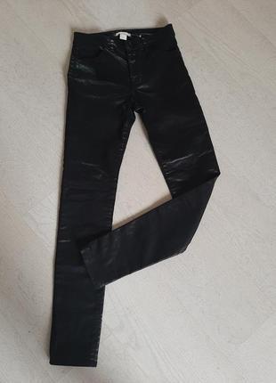 Стильные брюки высокая талия посадка