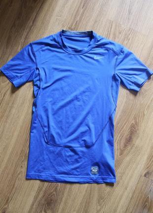 Отличная компрессионная термо футболка для спорта nike pro combat core 2.0