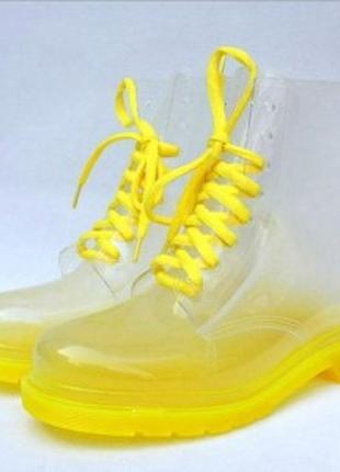Необычные прозрачные резиновые силиконовые сапоги сапожки ботинки