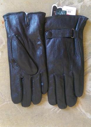 Чоловічі шкіряні перчатки, утеплені