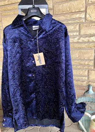 Мега крутая велюровая рубашка оверсайз  дорогого бренда ⭐️