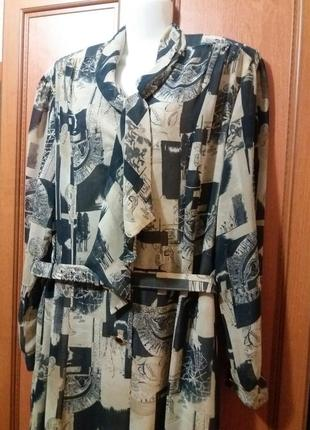 Винтажное шифоновое платье 18 -20 от markwald