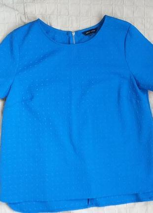 Синяя фактурная блузочка