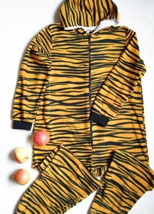 Кигуруми тигр, домашний костюм, пижама, размер l-xl