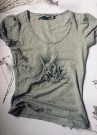 Оригинальная брендовая футболка 🖤love moschino