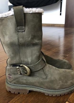 Сапоги timberland (оригинал) кожаные, зима мембрана waterproof р. 38.