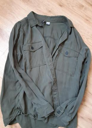 H&m рубашка хаки