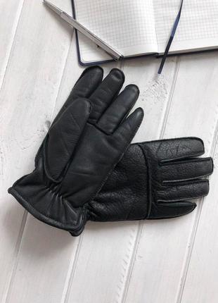 Зимние мужские перчатки бренда marks & spencer из натуральной кожи №835