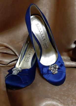 Красивые синие туфли 37р.