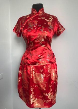 Китаянка китайский традиционный костюм 44 китай