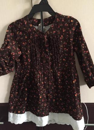 Платье-рубашка для девочки