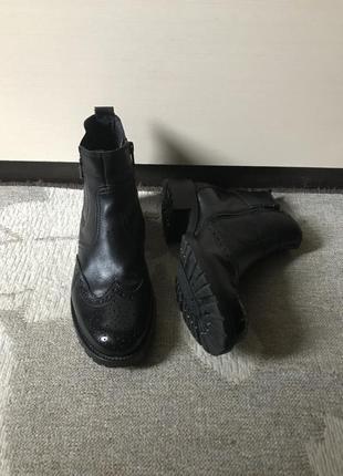Кожаные ботинки от 5th avenue