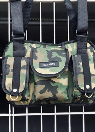 Нагрудная сумка hgul+bag сумка бронежилет милитари