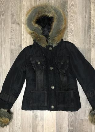 Зимняя курточка с мехом