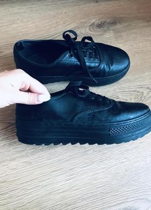 Туфли па платформе кожзам