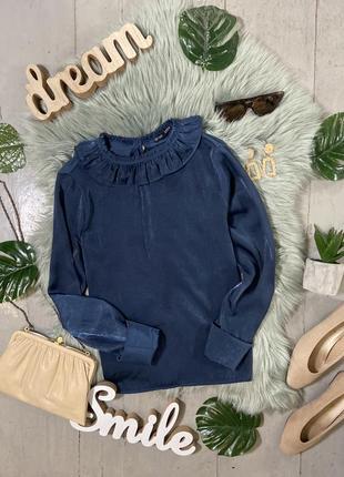 Актуальная сатиновая блуза в викторианском стиле №51max