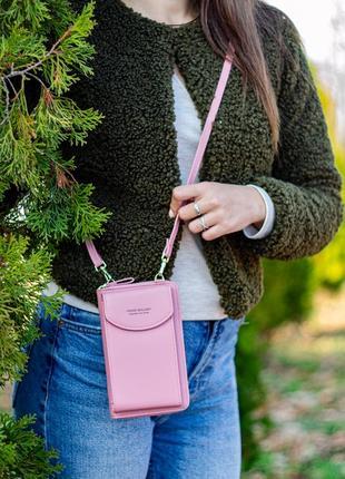 Женская сумка через плечо, мини-клатч из экокожи
