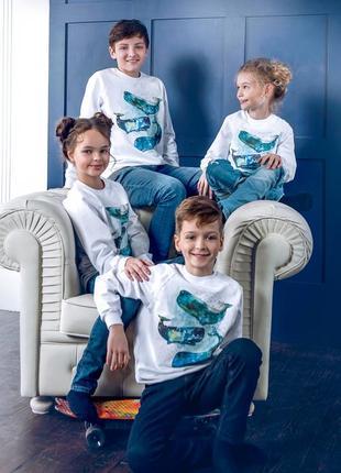 Крутой свитшот с космическим принтом три кита в стиле унисекс anabel arto